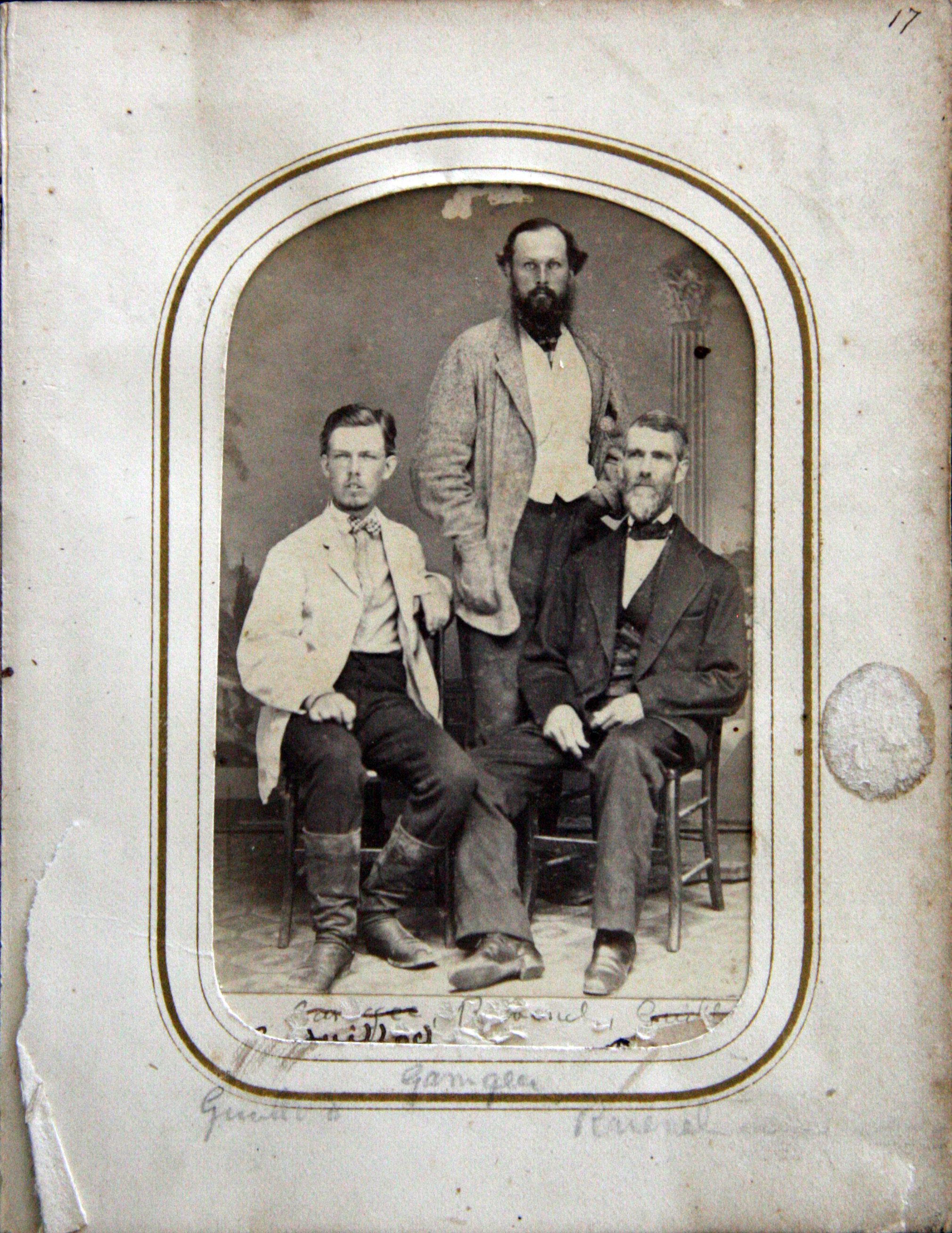 Peter Gaillard, John Gamgee, and Henry William Ravenel